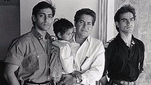 Salman Khan with his family.