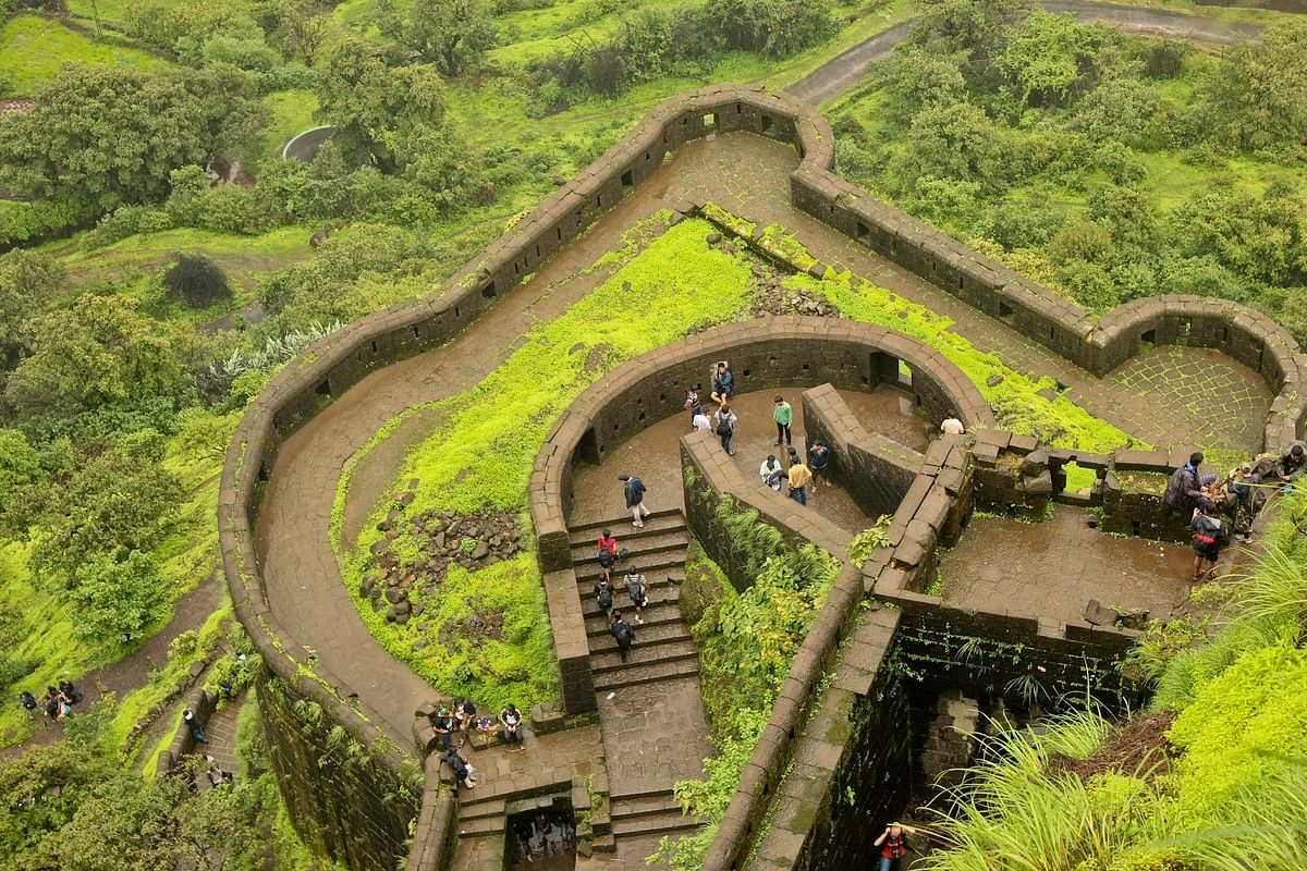 "Lohagad fort near Lonavala.  (Photo courtesy: <a href=""http://blog.pune99.com/forts-near-pune/"">blog.pune99.com</a>)"