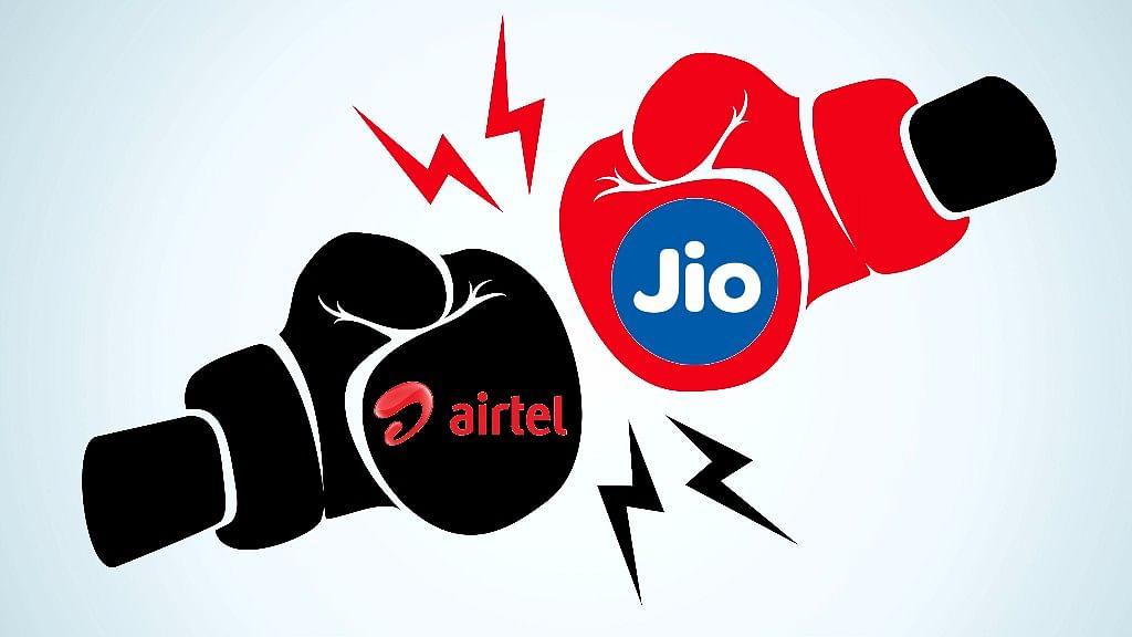 Airtel and Reliance Jio at loggerheads, yet again. (Photo: <b>The Quint</b>)