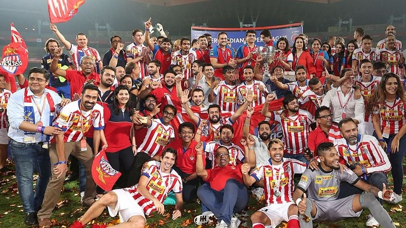 Atletico de Kolkata celebrate after winning the Indian Super League on Sunday. (Photo: Indian Super League)