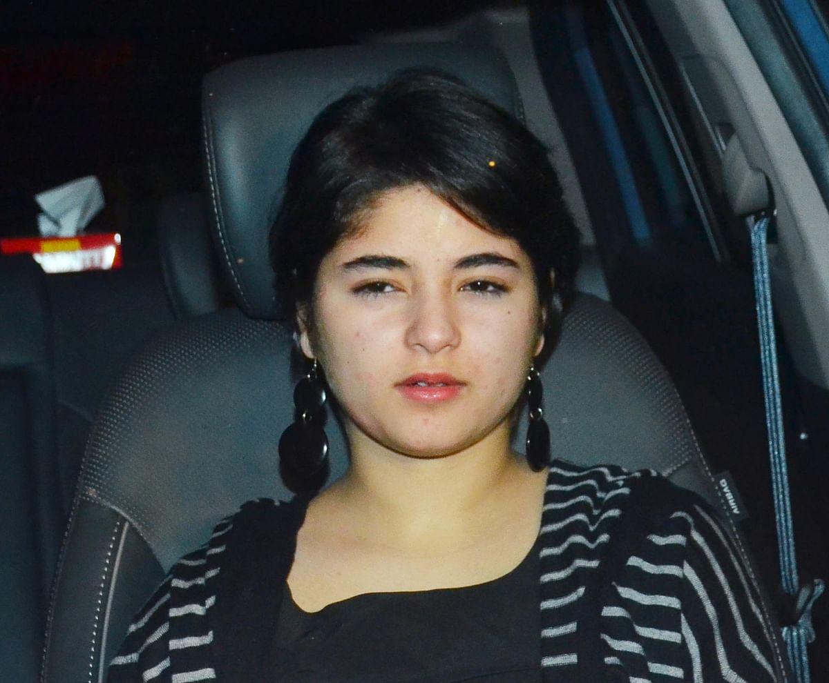 <i>Dangal</i> girl Zaira Wasim arrives. (Photo: Yogen Shah)