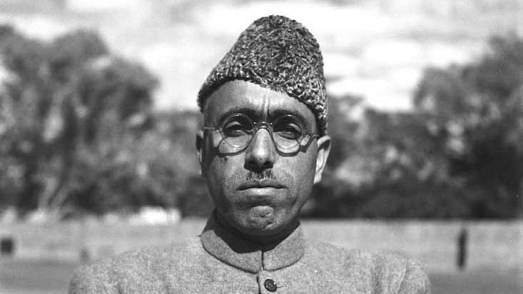 "File photo of Sheikh Muhammad Abdullah. (Photo Courtesy: <a href=""http://photodivision.gov.in/IntroPhotodetails.asp?thisPage=1382"">Government of India</a>)"