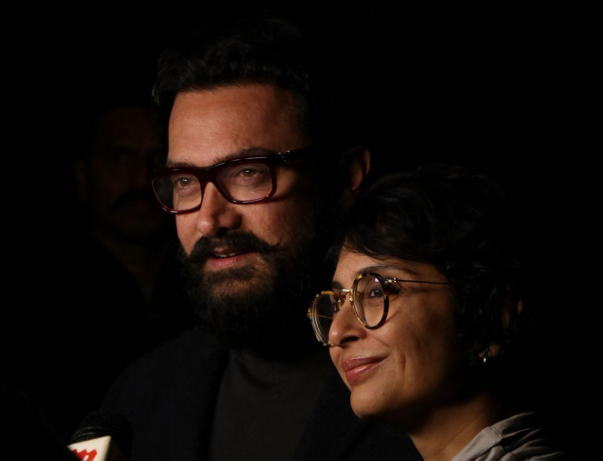 Aamir Khan and Kiran Roy bask in <i>Dangal</i> glory. (Photo: Yogen Shah)