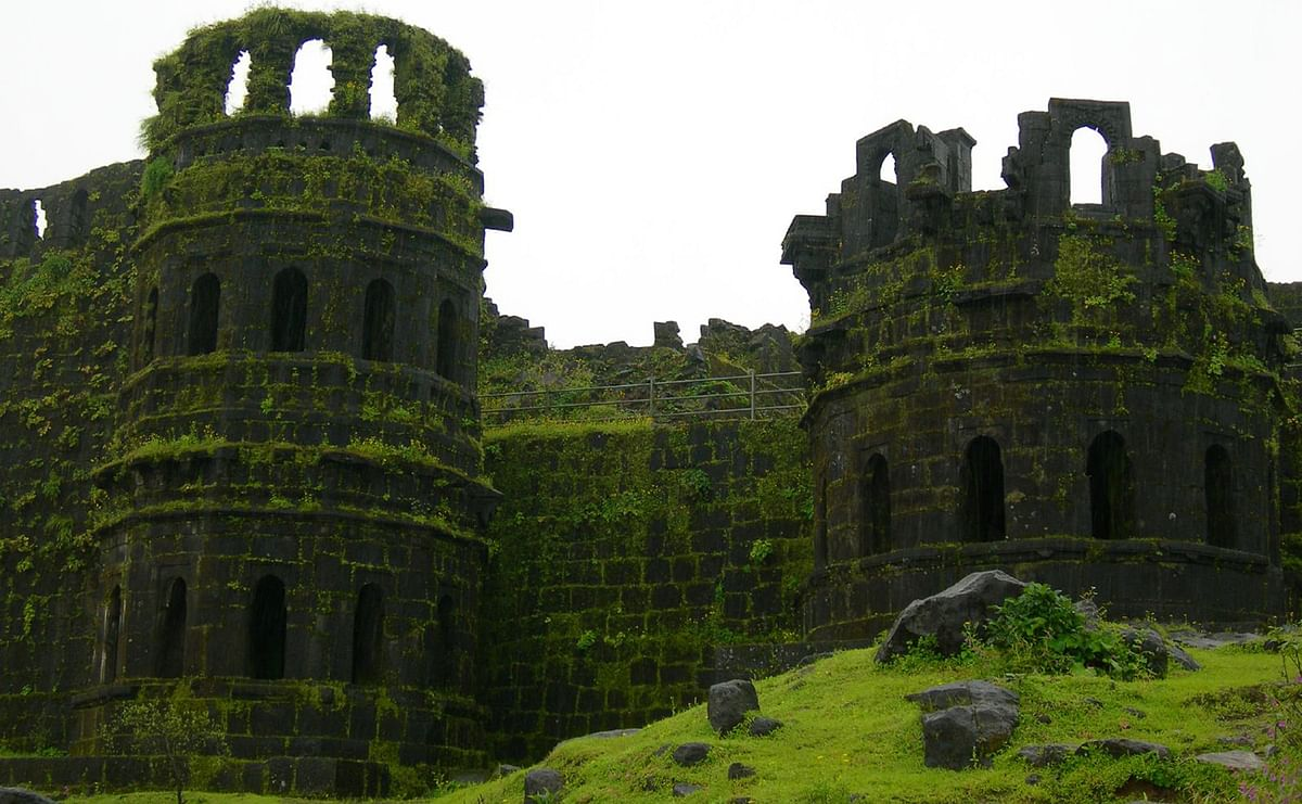"Raigad fort was the capital of Shivaji's kingdom. The fort was destroyed by the British after defeating Marathas in 1818. (Picture Courtesy: <a href=""http://trektofly.com/"">trektofly.com</a>)"