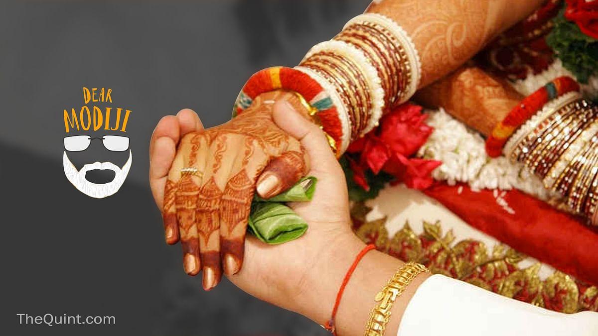 How are your ministers able to afford lavish weddings, Modi ji? (Photo: Rahul Gupta/<b>The Quint</b>)