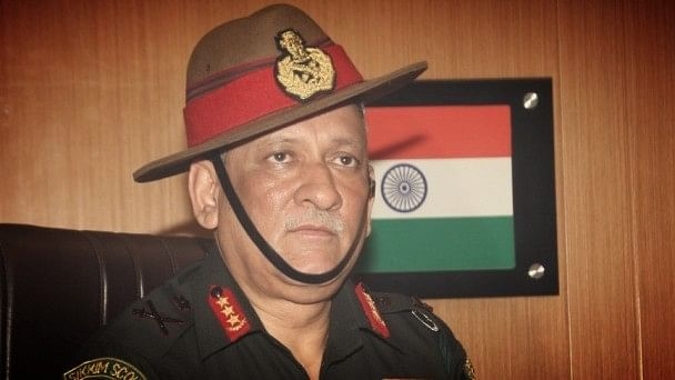 Army chief Bipin Rawat cited the example of China to highlight the importance of a higher defence budget. (Photo Courtesy: PIB)
