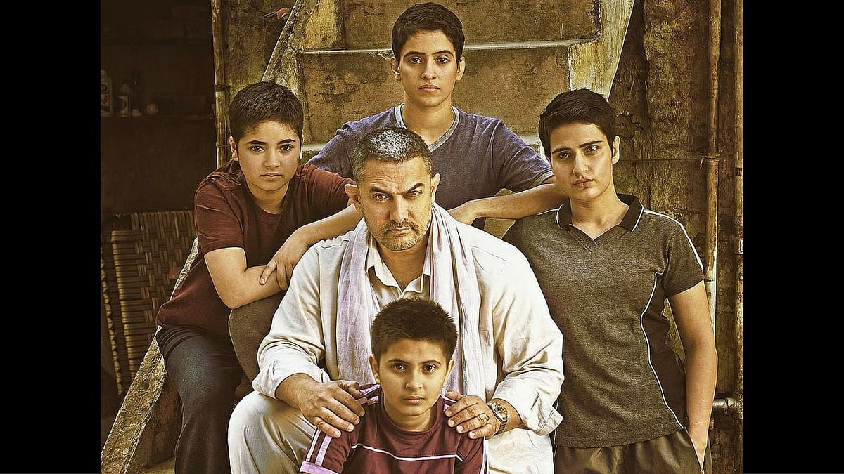 Aamir Khan in a poster of <i>Dangal</i>. (Photo Courtesy: Twitter)