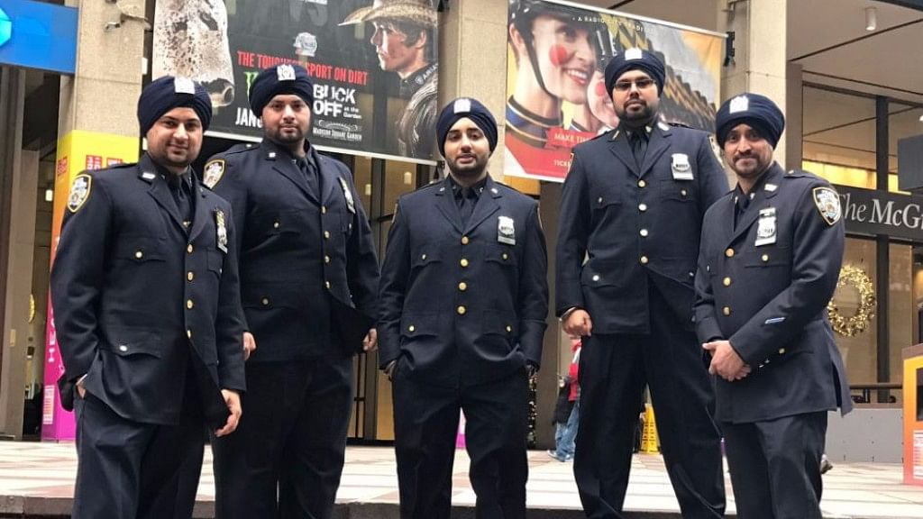 """Sikh officers of the NYPD. (Photo courtesy: <a href=""""https://twitter.com/SikhOfficers"""">Sikh Officers Assoc.</a>/Twitter)"""