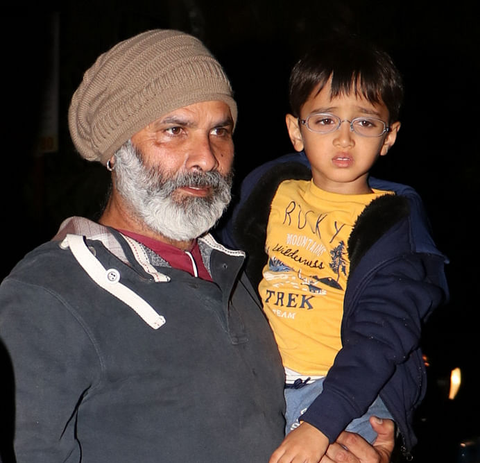 Aamir and Kiran's son Azad with a close friend. (Photo: Yogen Shah)