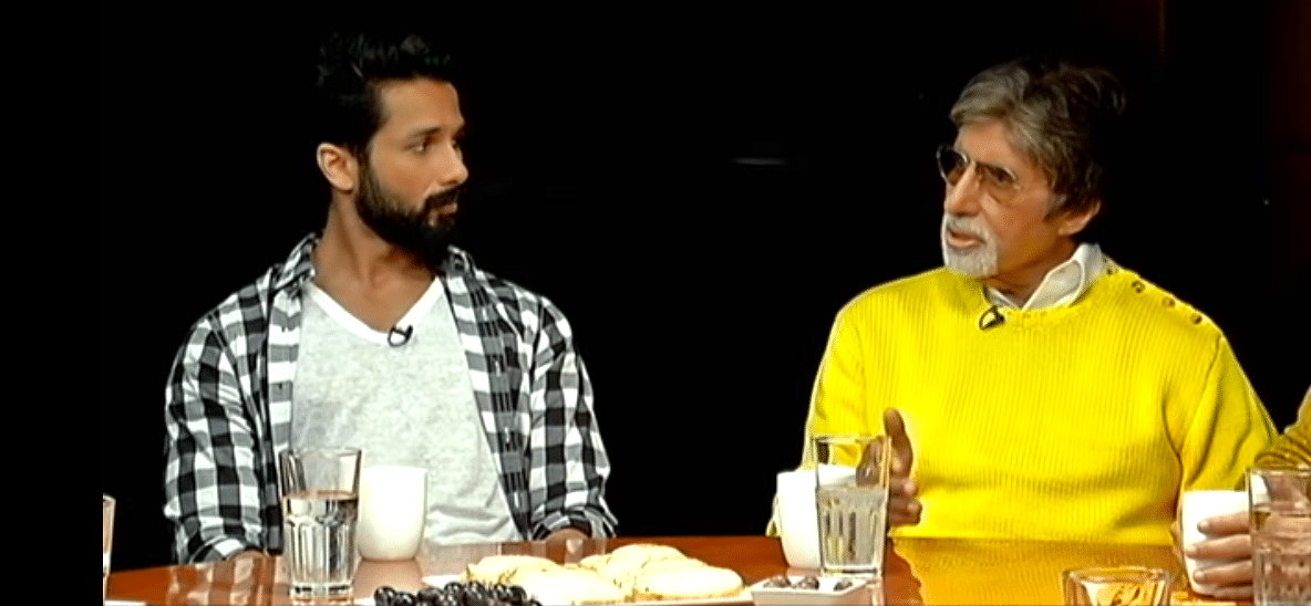 Shahid Kapoor and Amitabh Bachchan on the Actors Roundtable 2016. (Photo courtesy: YouTube)