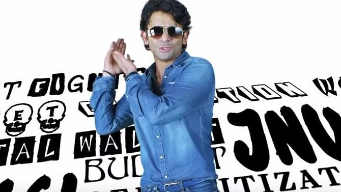 Sunil Grover in a still from the latest song. (Photo Courtesy: YouTube Screenshot)