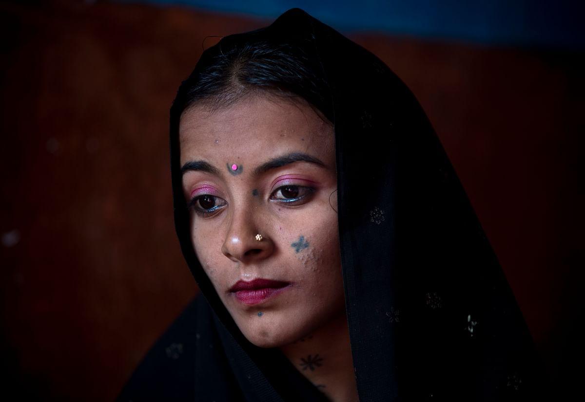 Jeevti sitting in her husband's house in Pyaro Lundh, Pakistan. (Photo: AP)