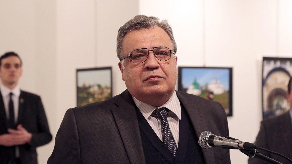 The Russian Ambassador to Turkey Andrei Karlov was shot dead at an art gallery in Ankara. (Photo: AP)