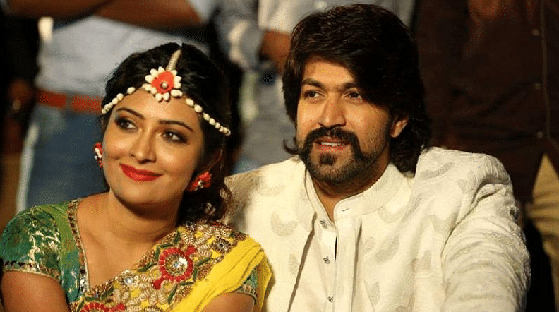 """Yash and Radhika Pandit (Photo Courtesy: Twitter/<a href=""""https://twitter.com/EntDC"""">DC Entertainment</a>)"""