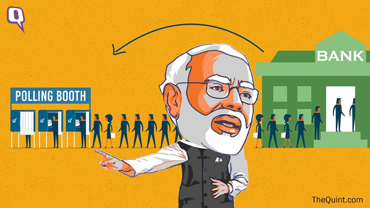With demonetisation, Modi has taken a risky gamble. The results are yet to be seen. (Photo: Harsh Sahani/<b>The Quint</b>)