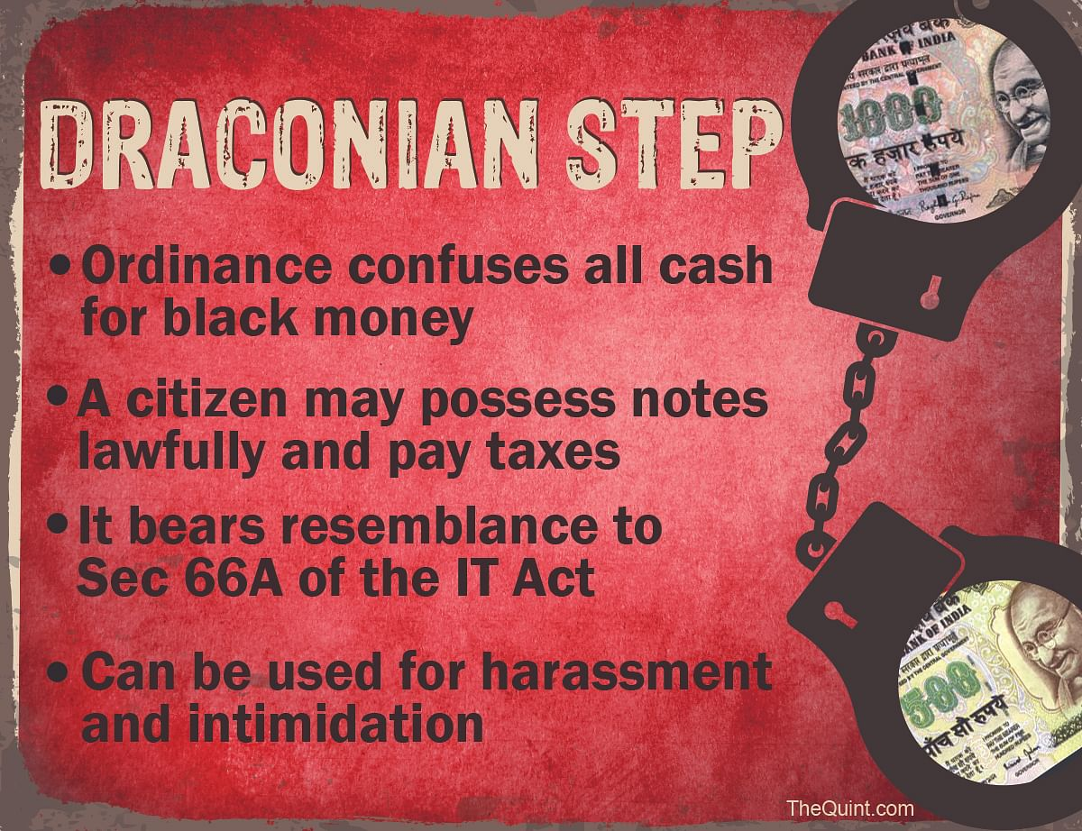 Baffled Over Black Money? Ordinance on Old Notes Won't Help Either