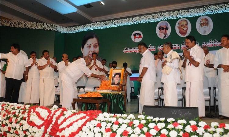 The AIADMK General Council's meeting at Vanagaram in Chennai on 29 December 2016. (Photo: PTI)