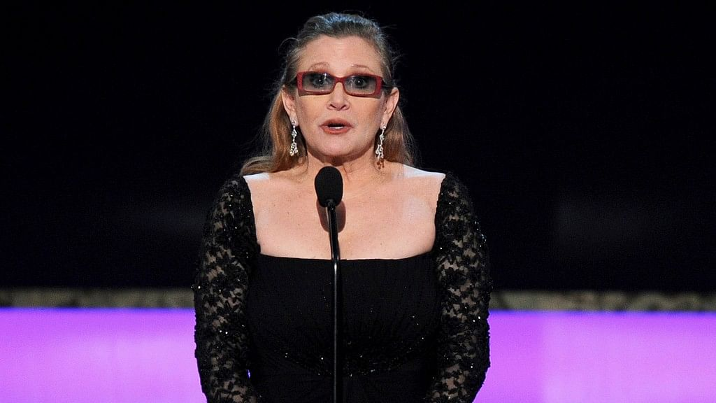 File photo of Carrie Fisher at the 21st annual Screen Actors Guild Awards at the Shrine Auditorium in Los Angeles. (Photo: AP)