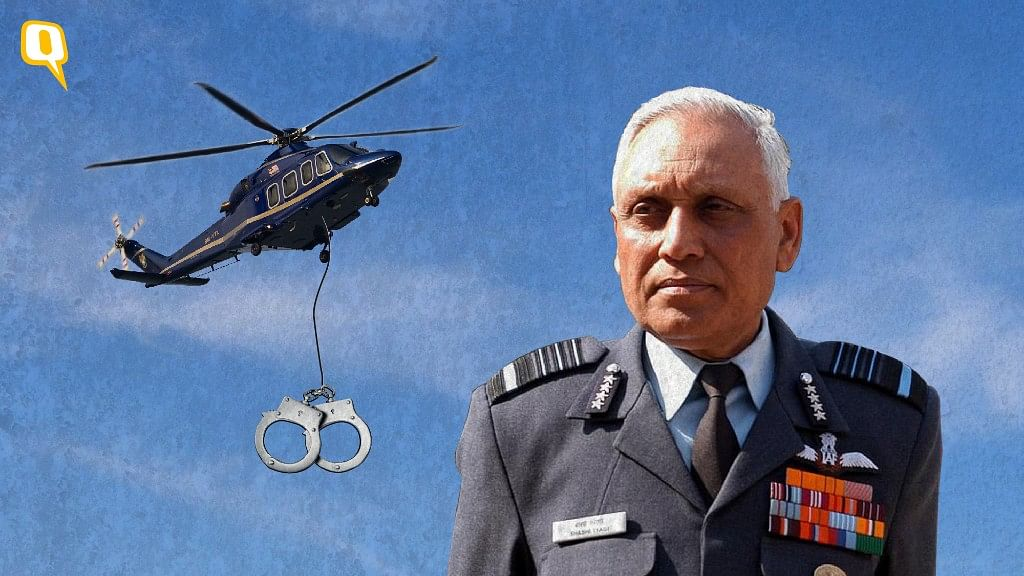 The CBI on Friday arrested former air force chief SP Tyagi in in connection with the AgustaWestland chopper deal. (Photo: <b>The Quint</b>)