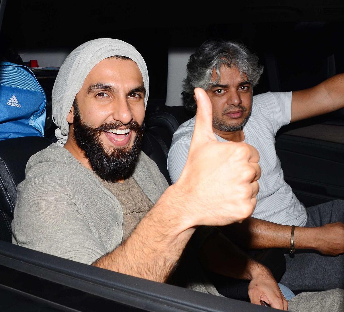 Ranveer Singh with filmmaker Shaad Ali. (Photo: Yogen Shah)