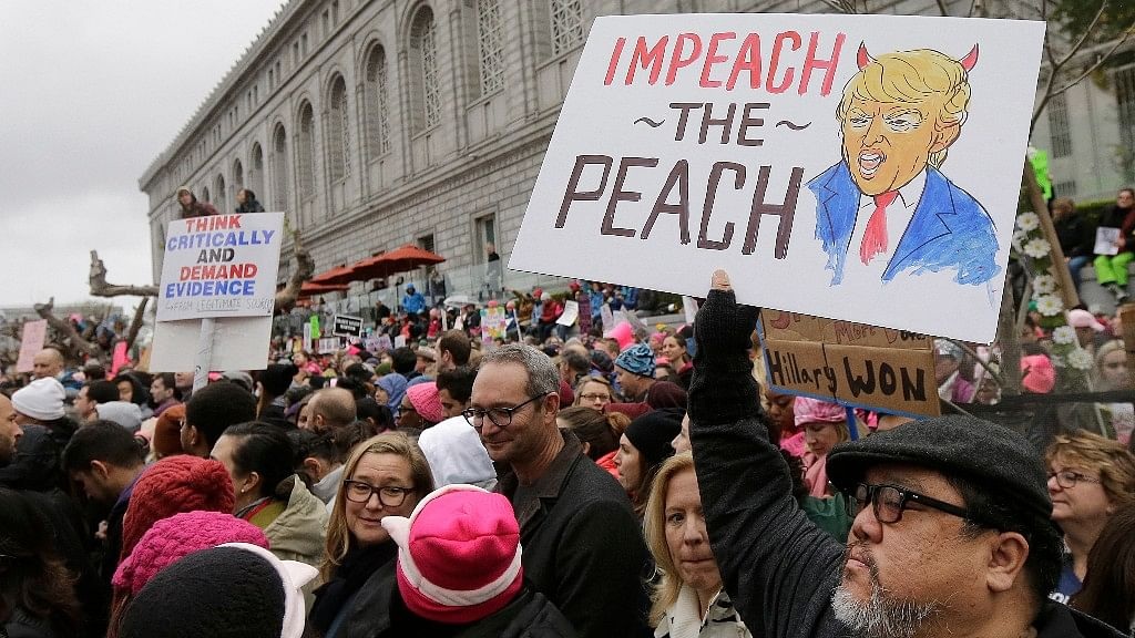 People across the world are protesting one year of Trump.