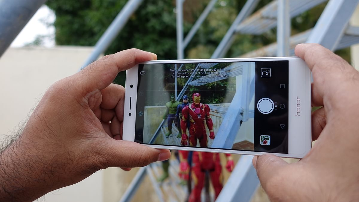 The camera interface on the Honor 6X. (Photo: <b>The Quint</b>/@2shar)