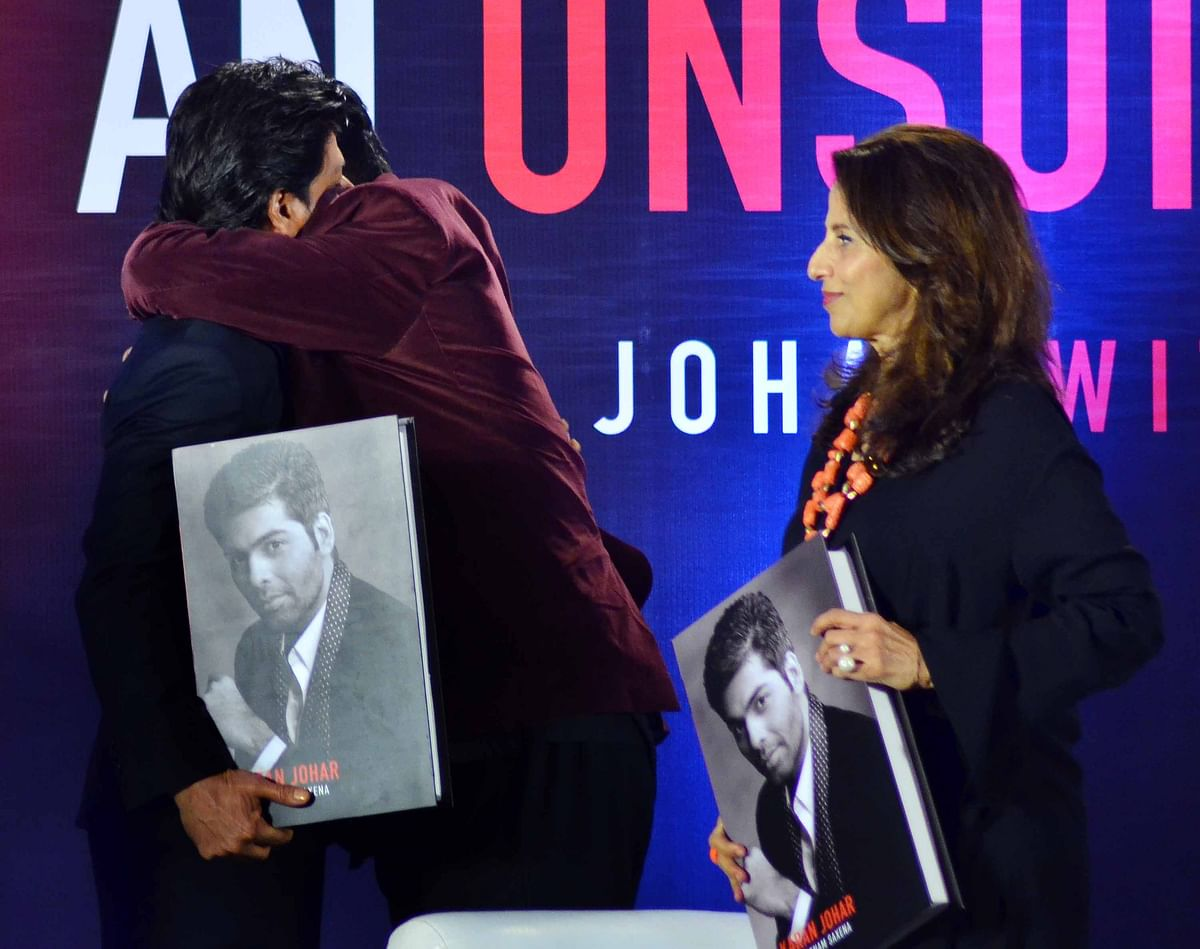 KJo gets emotional at the launch of his book. (Photo: Yogen Shah)