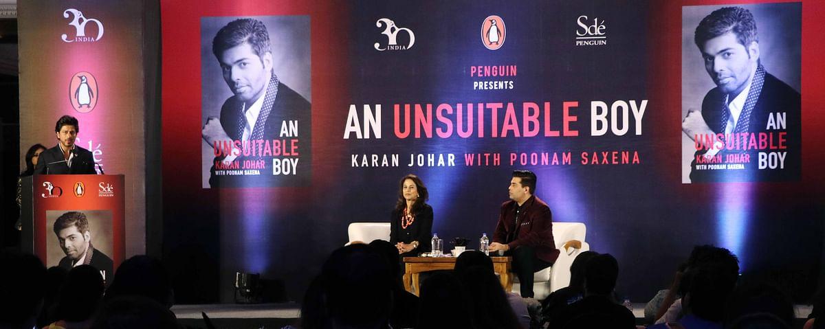 SRK launches KJo's book. (Photo: Yogen Shah)