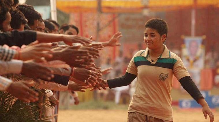Zaira Wasim in a scene from <i>Dangal. </i>