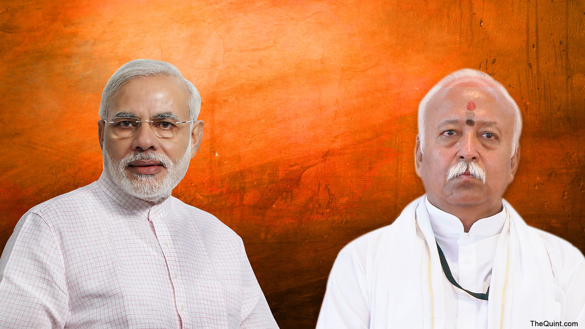 From Mohan Bhagwat to Modi, how Urdu is being strategically subverted and used to convey what other languages seemingly cannot. (Photo: Rhythum Seth/<b>The Quint</b>).