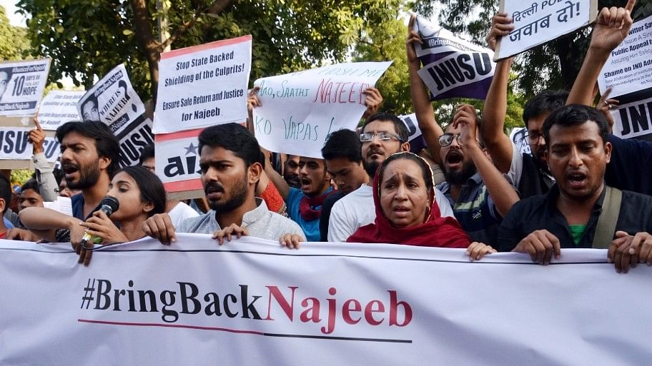 Najeeb Ahmed has been missing since 15 October 2016.