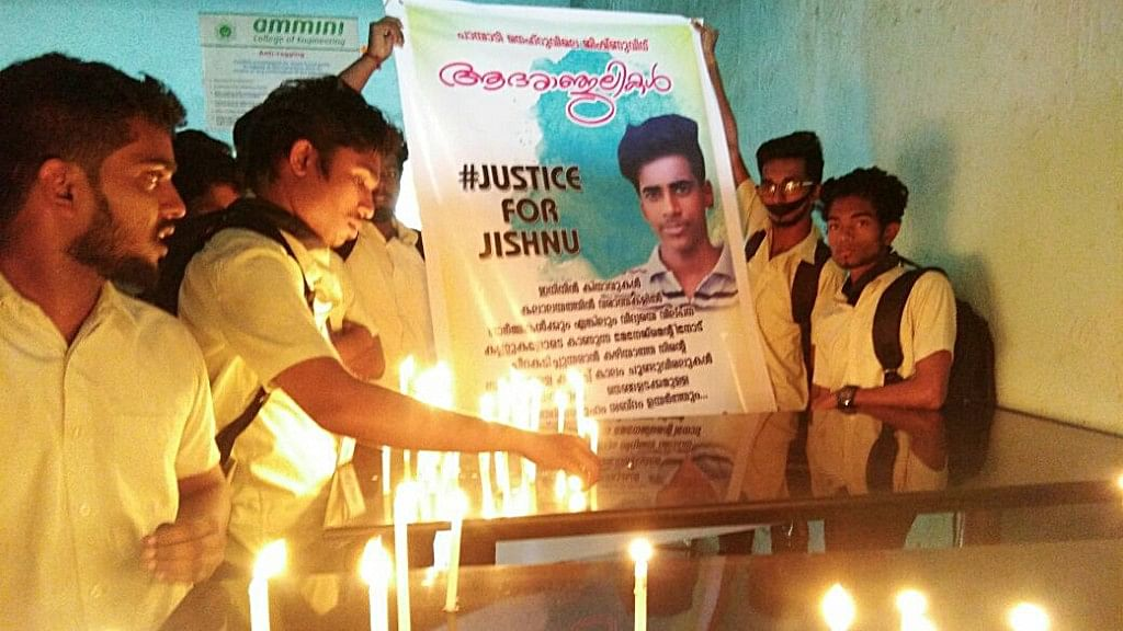 "Jishnu, a student of Nehru College of Engineering at Thrissur, was found hanging in his hostel room a few days back. (Photo Courtesy: Facebook/<a href=""https://www.facebook.com/justiceforjishnupranoy/"">JusticeforJishnu</a>)"