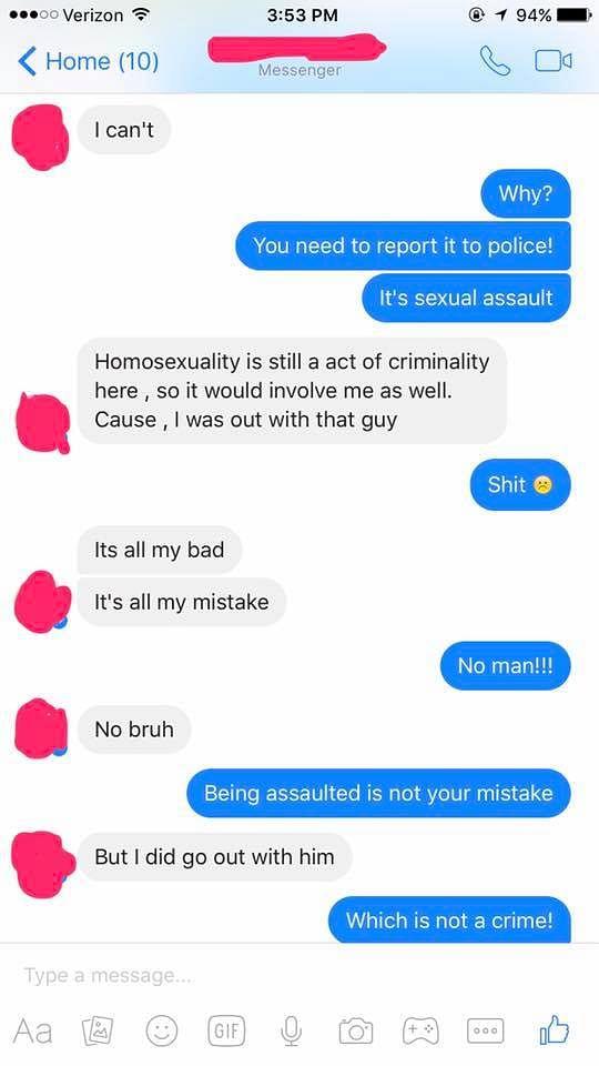 Screenshots of the conversation between the survivor and Arnav. (Photo courtesy: Arnav Barbaad)
