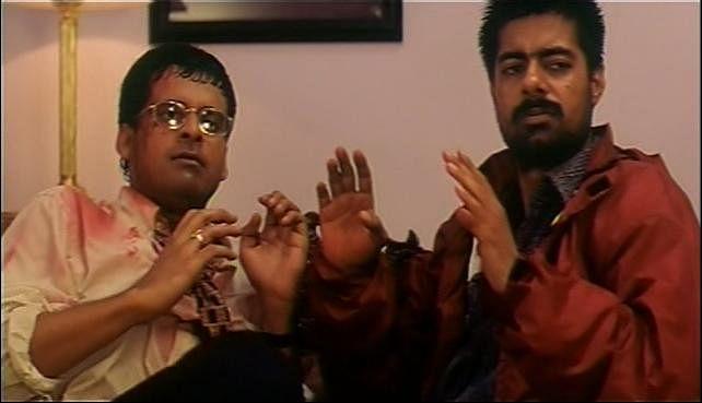 Manoj Bajpayee and Sushant Singh in a still from <i>Kaun?</i>.