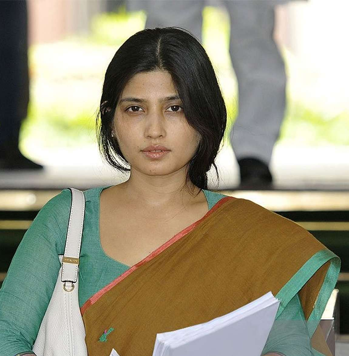 Dimple Yadav coming out of the Parliament. (Photo: PTI)