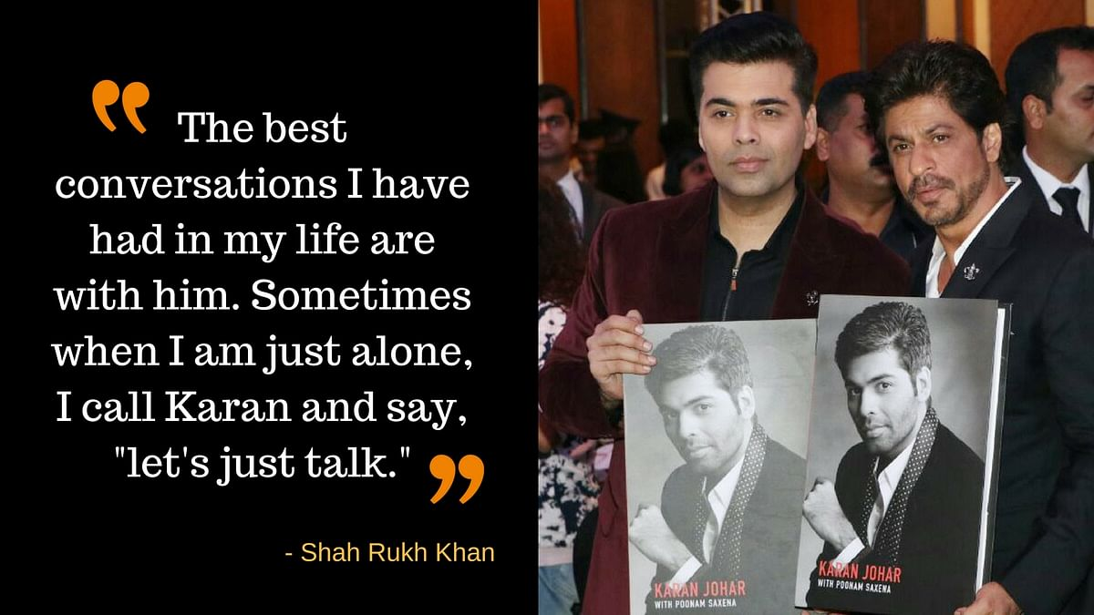 Here is why Shah Rukh thinks Karan Johar is and intelligent boy. (Photo: Yogen Shah)