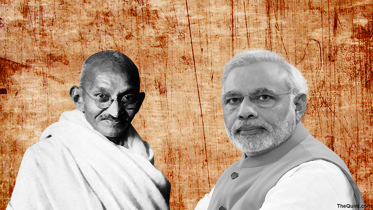Bapu was known for principles, not hollow worship and wouldn't have objected to his photo being replaced anywhere. (Photo: Rhythum Seth/ <b>The Quint</b>)