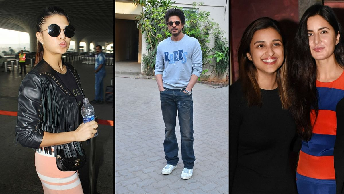 Jacqueline, SRK, Parineeti and Katrina were spotted around town. (Photo: Yogen Shah)