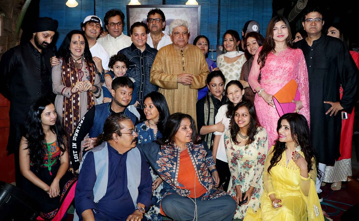 Javed, Shabana, Sonu and other stars at Jashn-e-Kaifi. (Photo: Yogen Shah)