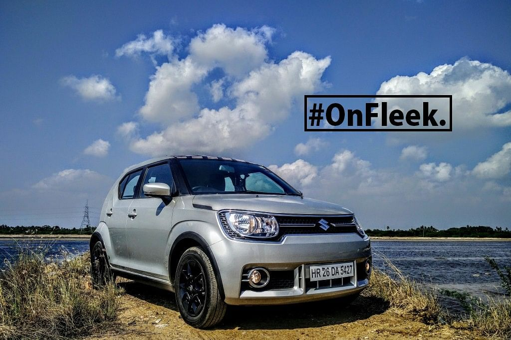 Maruti's added DRLs to the Ignis. (Photo Courtesy: Motorscribes)