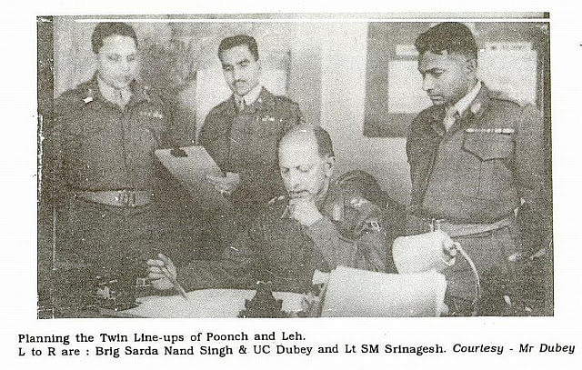 KM Cariappa working on military strategy.