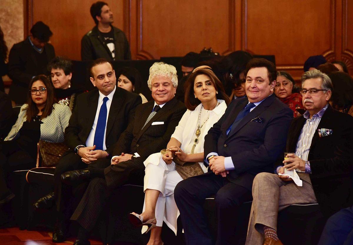 Rishi Kapoor with Neetu Singh and Sohel Seth. (Photo: Yogen Shah)