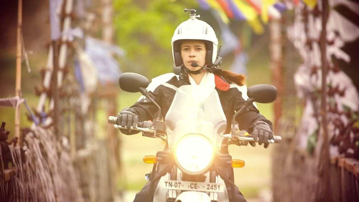 Kalki, the biker girl. (Photo Courtesy: FOX Life)