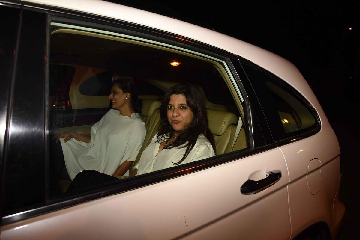 Zoya Akhtar with a friend. (Photo: Yogen Shah)