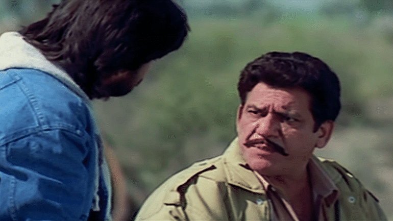 Om Puri (right) in a still from the classic, <i>Maachis</i>.