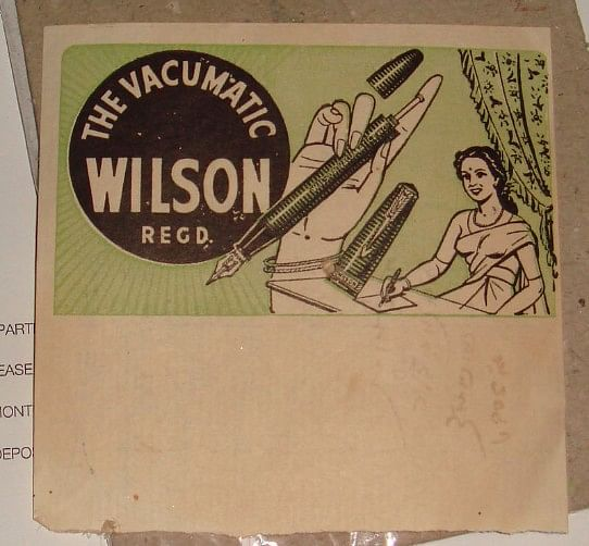 """A Wilson paper with an India connection. (Photo Courtesy: <a href=""""https://munsonpens.wordpress.com/2009/07/20/wilson-fountain-pen-advertising/"""">The Fountain Pen Board</a>)"""