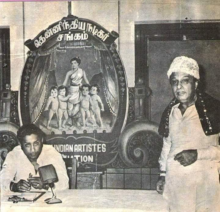 """MGR was first a popular Tamil films actor and later a politician whom the people loved and trusted. (Photo Courtesy: <a href=""""https://twitter.com/rgvenkateshgnfi/status/810042262352629760"""">Twitter</a>)"""