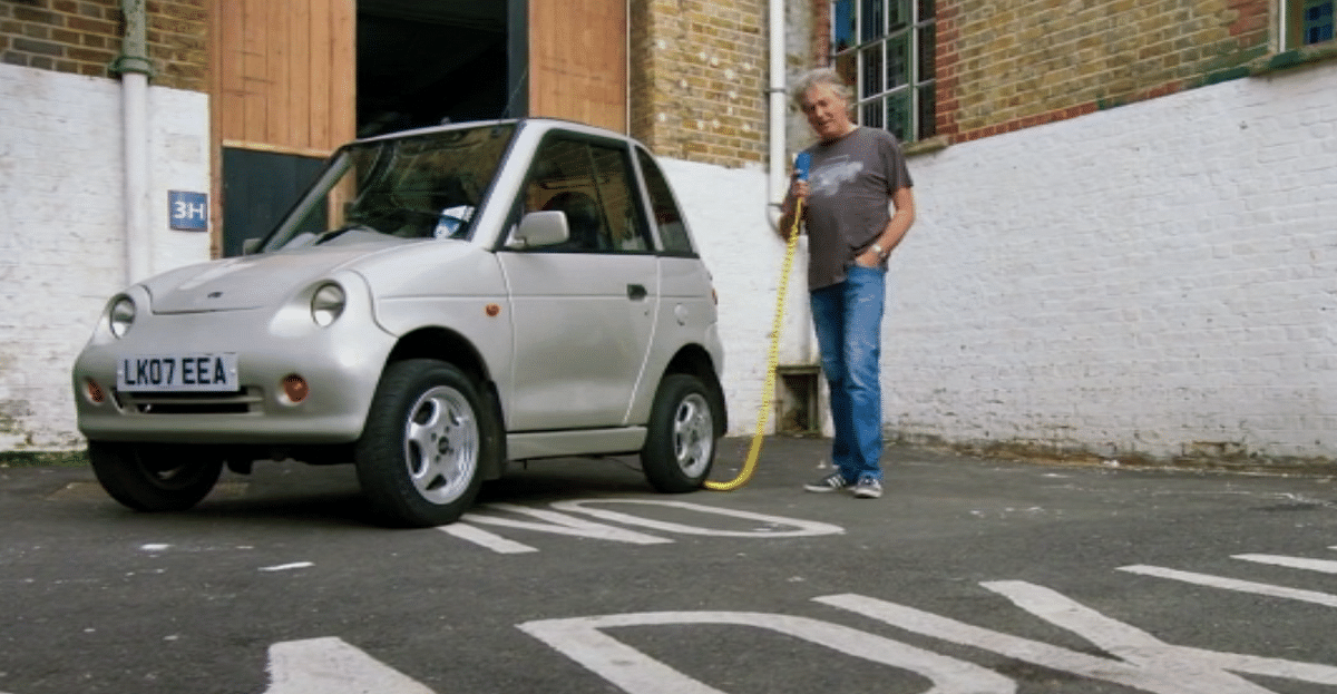 James May charging the electric car. (Photo Courtesy: Amazon screengrab)