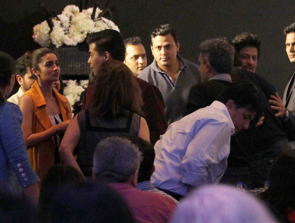 Alia chats with KJo. (Photo: Yogen Shah)
