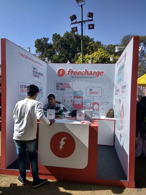 The Freecharge booth at JLF